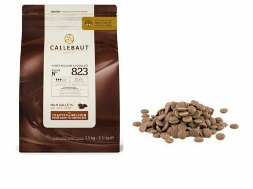 Callebaut No 823 Finest Belgian Milk Chocolate Callets Couverture 33.6% baking