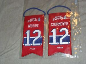 NHL Hockey Montreal Canadiens Collector Crests Cournoyer Moore