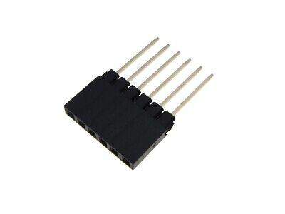 Hq 1x6-pin 6p 2.54mm 0.1 Female Header Long Pin 12.2mm