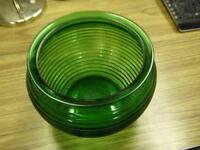 """National Pottery Glass Division 1162 Cleveland, Ohio 4.5"""" Green"""
