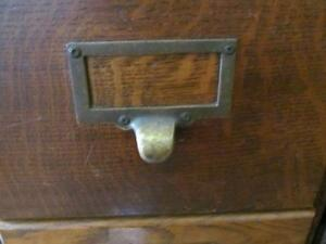 Early Oak Macey 6 drawer Filing Cabinet 1920's London Ontario image 3