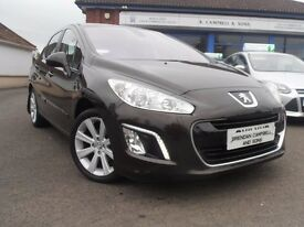2011 Peugeot 308 Active 1.6 eHDI 5 Door In Brown MOT - 06/02/2018
