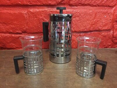 Bodum Eileen French Press Coffee Maker Stainless Steel 8-Cup 2 Like Mugs B2