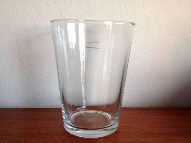Anne Nilsson Bladet Clear Glass Vase 20cm Rare Retired Vases