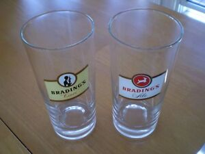 VINTAGE BRADINGS ALE BEER GLASSES Windsor Region Ontario image 1