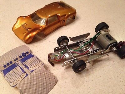 Vintage 1960s Champion 1/24 Scale Slot Car Chassis w/ Lola GT Body Instructions