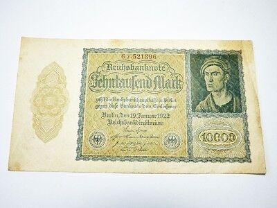 Reichsbanknote 10000 Zehntausend Mark 1922 Reichsbankdirektorium Berlin