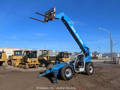 2008 Genie Gth-1056 56 10000 Lbs Telescopic Reach Forklift Telehandler Bidadoo