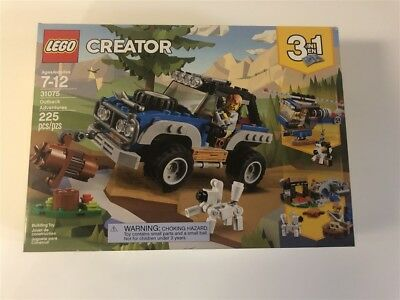 LEGO CREATOR 31075 OUTBACK ADVENTURES 3 IN 1 SET BRAND NEW SEALED