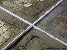 Proform Concrete Screed Rails, Crack inducers, Expansion Joints appr 30m