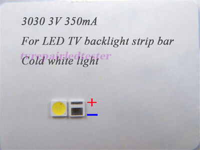 100Pcs 3030 1W 3V SMD Lamp Beads Specially for LED TV Backlight Strip Bar