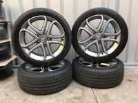 "Genuine 17"" Mercedes Alloy Wheels with Tyres 17x7.5 ET52.5"