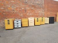 selection of 2, 3 and 4 draw office storage / filing cabinets.