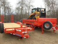 Rental equipment / car haulers, dump trailers, skid steer, bobca