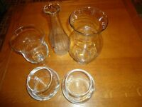 Assorted Glass Vases & Fishbowls