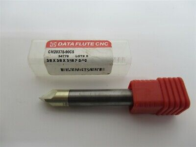 Data Flute Cm20375-90c5 38 Solid Carbide Chamfer End Mill