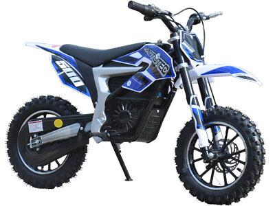 MOTOTEC 36v ELECTRIC DIRT BIKE  500w LITHIUM - BLUE