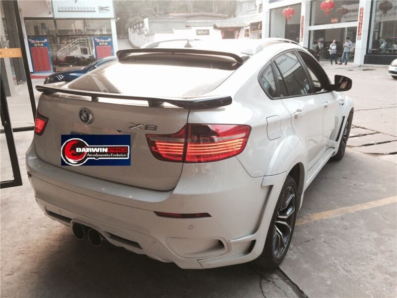 2008-2014 BMW X6 E71 E72 HM Style Carbon Fiber Roof Spoiler Body Kit