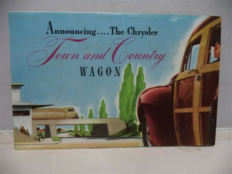 1941 Chrysler Town & Country Wagon Fold Out Sales Brochure Dated 3-41