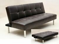Luxury Italian Leather Sofa Bed-Available in 2 Colours-Same day/Next Day Delivery||Sale Now On||