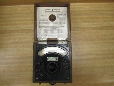 General Electric 3229284 Vintage Industrial Ac Volt Meter Antique