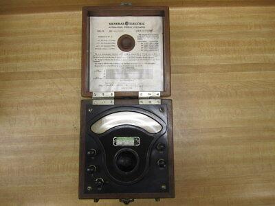 General Electric 3229284 Vintage Industrial Ac Volt Meter Antique