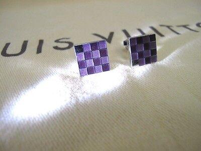 100% Authentic Louis Vuitton Purple Cuff Links