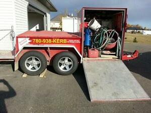 Kwik Kerb Continuous Concrete Edging Franchise For Sale ******* Edmonton Area image 4