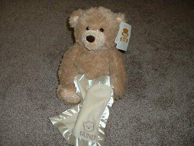 "Baby Gund Peek-A-Boo Teddy Bear 10"" Tan Ivory Blanket Plush Talks Moves 2013 NWT"