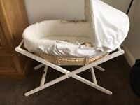 Mamas & papas Moses basket & stand once upon a time range