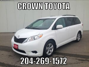 2012 TOYOTA SIENNA LE 8-PASS V6 FWD! ONE OWNER, SERVICED WITH U