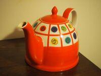 Red Whittard designer teapot