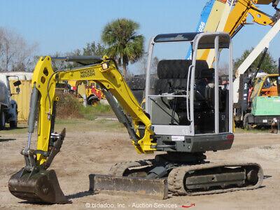 2016 Wacker Neuson Ez28 Vds Mini Excavator Rubber Tracks Backhoe Bidadoo