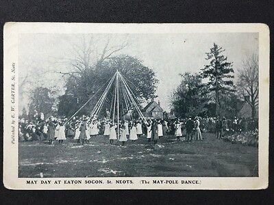 Vintage Postcard - Cambridgeshire #26 - RP Eatcon Socon St Neots May Pole Dance