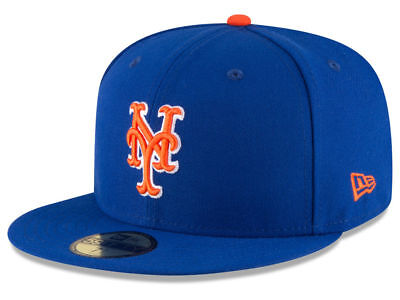 New Era New York Mets ALT 59Fifty Fitted Hat (Light Royal/Orange) MLB (New York Mets Hats)