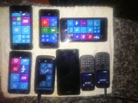 6 xNokia Lumia phones unlocked with chargers