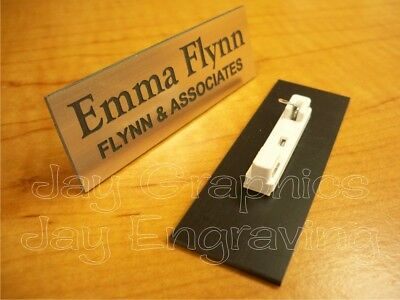 Custom Engraved Copper Name Tag Badge Employee Identification Id Personalized