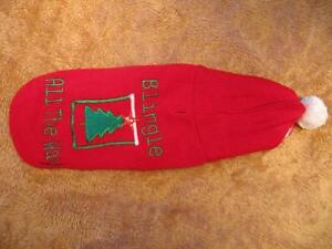 Dog Clothing - Red 'Blingle All The Way' Coat w\ Hoodie Strathcona County Edmonton Area image 1