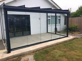 Glass panels for a Weinor glass room 6.5 x 3m.