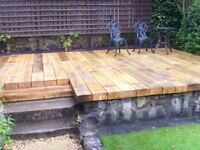 WOODEN RAILWAY SLEEPERS 2.4m x 200mm x 100mm pressure treated(Glasgow Scotland new Edinburgh timber