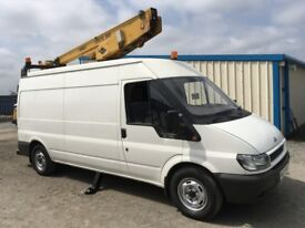 Ford transit T350 135 with hoist/cherrypicker