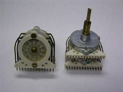 Cts 2 Deck Single Pole 12 Pos.rotary Switches Crosses To C3 Series Electroswitch