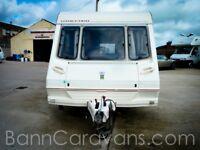(Ref: 838) 99 Model Abbey County Stafford 5 Berth Touring Caravan