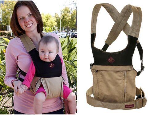 Belle Cruz Ergonomic Baby Carrier, Multi-Carrying Positions, Microsuede Khaki