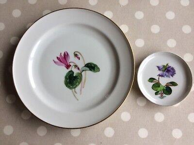 2  Flower Plates - Rosenthal - Germany  (Cyclamen & A Purple Flower)