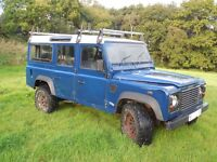 Land Rover Defender 110 TD5 12 Seater Low Mileage, owned for 11 years.