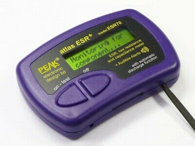 Esr Plus Capacitor Analyser With Audible Alerts With Track