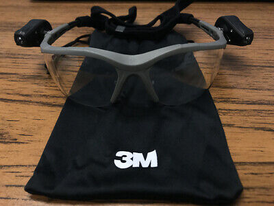 3m 11476 Light Vision 2 Protective Eyewear With Clear Anti-fog Lens Led Light