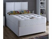 BEST SELLING BRAND!! DOUBLE / SMALL DOUBLE DIVAN BASE WITH 1000 POCKET SPRUNG MATTRESS --