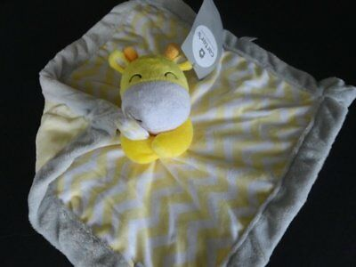 NWT Carter's Giraffe Chevron Unisex Yellow Security Blanket/Lovey